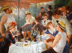 Renoir:  Luncheon of the Boating Party, painted 1880-1881