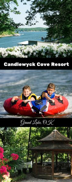 Candlewyck Cove Resort on Grand Lake in Grove, Oklahoma offers cabins, vacation homes and hotel rooms for lake visitors to enjoy.  They also rent boats and water toys.