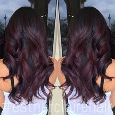 burgundy balayage ombre http://amzn.to/2s3OkDd