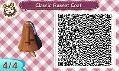 Classic Russet brown Coat + Shirt + Skirt. A bit of victorian-like fashion.