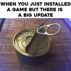When you just installed a game but there is a big update