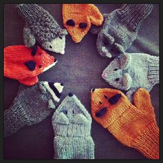 little fox mittens by birch hollow cottage / in quince & co. lark