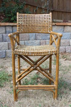 Rattan Asian Ming Style Chairs Vintage Rattan Chairs