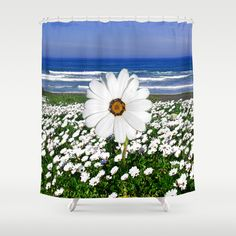 White Spring Shower Curtain by crismanart Spring Shower, White Springs, Framed Art Prints, Wall Tapestry, Shower Curtains, Beautiful, Home Decor, Decoration Home, Room Decor