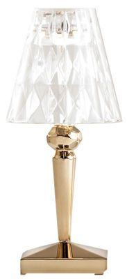 Lampe sans fil Battery LED / Recharge USB - Métallisée Or - Kartell - Décoration et mobilier design avec Made in Design