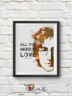 John Lennon PrintJohn Lennon Poster John Lennon par OULARTDESIGN