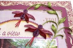 Using quilling on scrapbook pages ~ Gabrielle Pollacco (click on photo to see examples of layouts using quilling emellishments