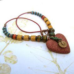 DESTASH SALE  Beaded necklace beaded pendant by THEAjewellery, 16.50