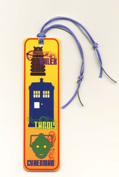 Doctor Who - Tardis Dalek Cyberman Book Marker Laminated Dr.Who Bookmarker