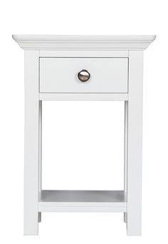 Unusual Banbury Elegance Painted Furniture Open Bedside Table Design Ideas with Modern Wood Materials and French Style Range also Drawer Comes with Metal Handles for Bedroom
