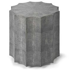 Charcoal Gray Shagreen Table