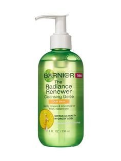 OILY SKIN Garnier The Radiance Renewer is a thick gel that clings to skin, so hydroxy acid can unclog and deslick.