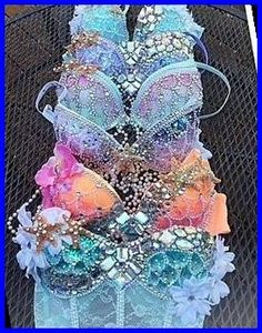 Carnival Outfits, Carnival Costumes, Dance Costumes, Mermaid Costumes, Music Festival Outfits, Festival Wear, Festival Fashion, Mermaid Bra, Mermaid Tails
