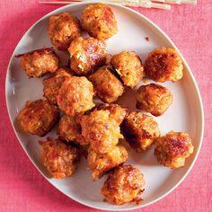 Sausage-Cheddar Balls Recipe   Martha Stewart