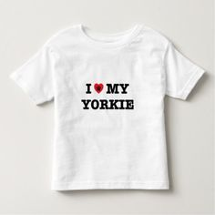 #I Heart My Yorkie Toddler T-shirt - #yorkshire #terrier #puppy #terriers #dog #dogs #pet #pets #cute #yorkshireterrier