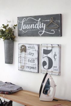 This is a SET OF THREE Laundry Room decor signs - a laundry sign with string art JUTE hanger, a stri Rustic Laundry Rooms, Laundry Decor, Laundry Room Signs, Farmhouse Laundry Room, Laundry Room Organization, Laundry In Bathroom, Organization Ideas, Bathroom Signs, Laundry Room Decorations