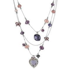 Tiered Gemstone Necklace from Lord & Taylor on shop.CatalogSpree.com, your personal digital mall.