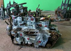 Scratchbuilt Ork Battlefortress by Ouze from dakkadakka.com