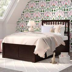 Viv + Rae Wasilewski Platform Bed with Trundle Bed Frame Color: Espresso, Size: Full Loft Bed Frame, Twin Daybed With Trundle, Bunk Bed With Trundle, Twin Bunk Beds, Kid Beds, Platform Bed With Drawers, Bunk Beds With Drawers, Solid Wood Platform Bed, Twin Platform Bed