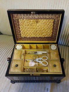 English workbox circa 1840