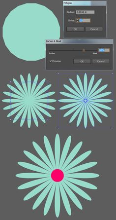 Create a simple, shape-driven floral pattern with Adobe Illustrator. Use polygons to make each of the pattern's elements, distort them with vector effects, and use the Pattern Options panel in order to bring your design together. | Difficulty: Beginner; Length: Medium; Tags: Vector, Adobe Illustrator, Pattern, Illustration