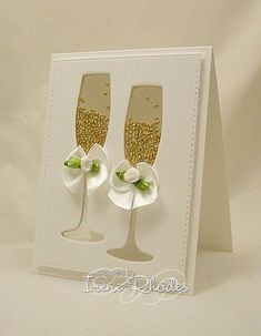 Golden Bliss by - Cards and Paper Crafts at Splitcoaststampers <br> Love Cards, Diy Cards, Tarjetas Diy, Wedding Congratulations Card, Wedding Cards Handmade, Wedding Anniversary Cards, Card Wedding, Happy Anniversary, Diy Wedding