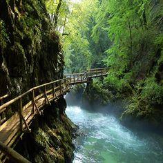 "myinnerlandscape: ""Vintgar gorge, Slovenia - dream landscapes in the world """
