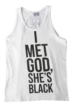 I Met God, She's Black Tank – NYLON SHOP