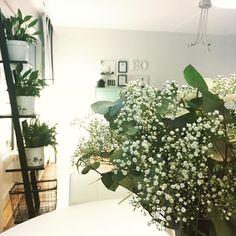Ihanaa maanantaita! Työteliäs viikko käynnistynyt. Sitä ilahduttamaan piti kotimatkalta napata kimppu vihreää.  #homedecor #home #myhome #homeinterior #interior #sisustus #inredning #vihersisustus #greendecor #flowers #viherkasvi #kukkakimppu #instahome