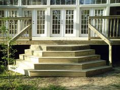 angled deck stairs | , with a wrap-around angled edge, Wedding Cake Steps give your deck ...