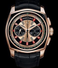 Cellini Jewelers Roger Dubuis La Monegasque Chronograph 18K RG Black DLC coated titanium
