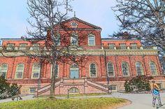 Harvard Hall in Harvard Yard
