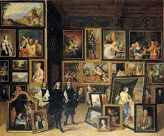 David Teniers el Joven, La visita del archiduque Leopoldo Guillermo a su gabinete, acompañado de David Teniers el joven, óleo sobre lienzo, 73,5 x 88 cm, Madrid, Museo Lázaro Galdiano