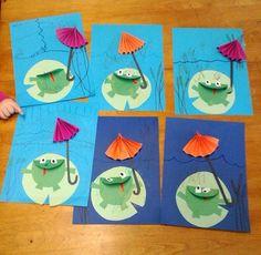 frog craft Diy For Kids, Crafts For Kids, Lifecycle Of A Frog, Kindergarten, Frog Crafts, Baby Art, Blog, Seasons, School Stuff