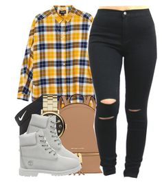 """""""12/30/15"""" by clickk-mee ❤ liked on Polyvore featuring Monki, MICHAEL Michael Kors, NIKE, Marc by Marc Jacobs, Timberland, Banana Republic and Devon Pavlovits"""