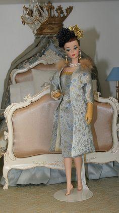 OOAK Joshard in diorama, i love this bed! Barbie I, Barbie World, Barbie And Ken, Barbie Dress, Barbies Dolls, Barbie Diorama, Barbie Miniatures, Fashion Dolls, Girl Fashion