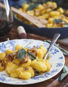 Creamy sage butternut white bean gnocchi is a decadent vegetarian dish perfect for Meatless Mondays.