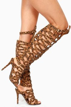 Flamingo-3010, 8 inch leopard print thigh high boots | High boots ...