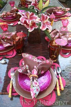 Orchid Table setting
