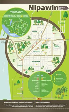 Modern and Engaging Map of Nipawin, SK by Natalie Zueva