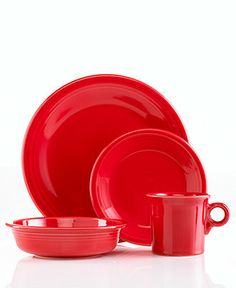 Fiesta Dinnerware, 4 Piece Place Setting - Casual Dinnerware - Dining & Entertaining - In all different colors - Macy's