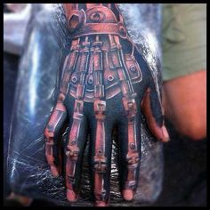 If you want to make Tattoo Robot Hand yourself and you are looking for the suitable design or just interested in tattoo, then this site is for you. Hand Tats, Hand Tattoos For Guys, Weird Tattoos, Finger Tattoos, Life Tattoos, Body Art Tattoos, Cool Tattoos, 3d Tattoos, Home Tattoo