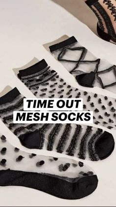 Bootie Socks, Sock Ankle Boots, Mesh Socks, Cute Socks, Time Out, Trending Now, Peek A Boos, Pairs, Booty