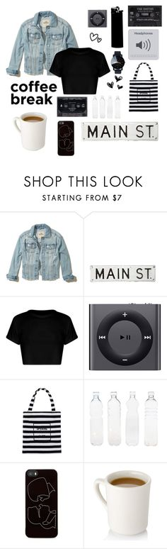 """""""Coffee Break ☕️"""" by toastedmarshmellow ❤ liked on Polyvore featuring Hollister Co., FOSSIL, WALL, Apple, Opening Ceremony, Seletti and Zero Gravity"""