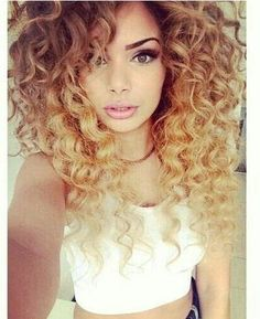Beautiful flowy ombre hair color