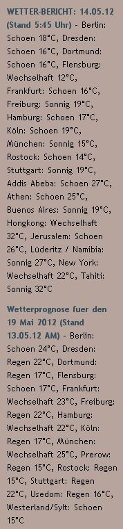 WETTER-BERICHT: 14.05.12 (Stand 5:45 Uhr)  - http://www.schoeneswetter.com/wetterwuensche/wetter-2012/mai-2012/wetter-14-mai-2012.php