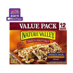 Walmart Nature Valley Sweet Salty Nut Peanut Almond Variety Pack... ($4.98) ❤ liked on Polyvore featuring food