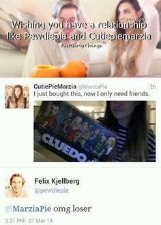 ~ haha ~ Cutiepiemarzia & Pewdiepie ~ want relationship liek dat .... cries