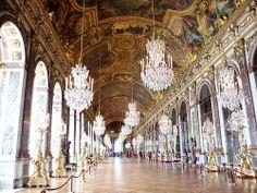 Arquitectura Rococó. Interiores del palacio de Versalles.