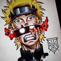 Otaku Anime, Anime Naruto, Naruto Gaara, Naruto Shippuden Anime, Manga Anime, Kakashi Drawing, Naruto Drawings, Cartoon Drawings, Naruto Tattoo